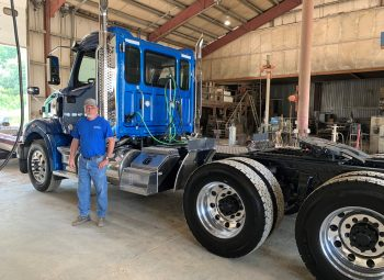 Blue Western Star Tractor